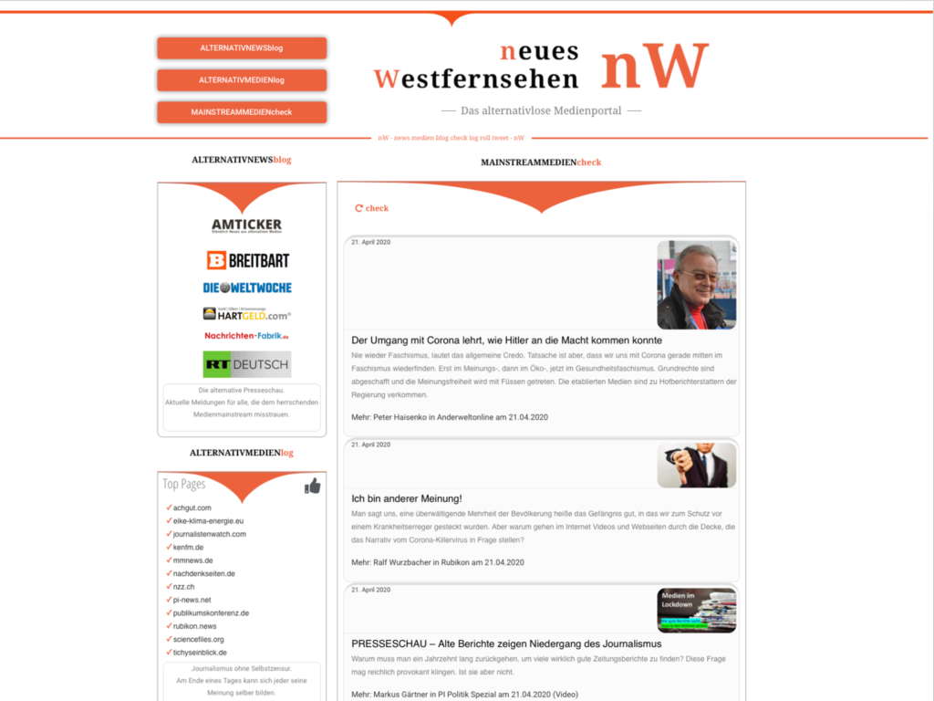 neue Westfernsehen nW Medienportal